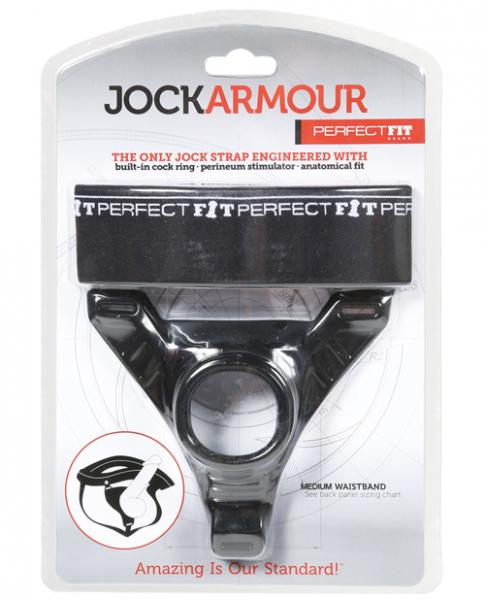Jock Armour Black Medium Waistband Black