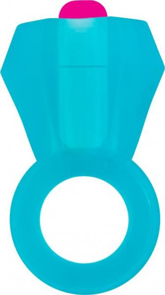 Rock Candy Bling Pop Ring Blue Vibrating Cock Ring