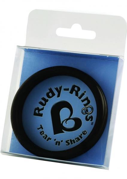 Rudy Rings Silicone Cock Rings Black