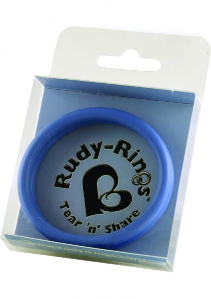 Rudy Rings Silicone Cock Rings Blue