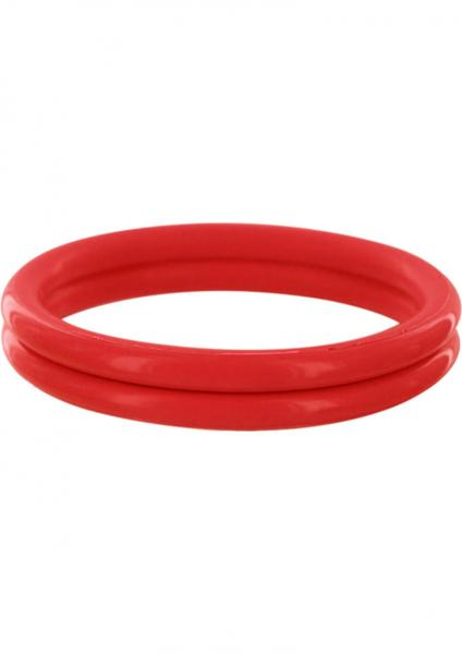 Rudy Rings Silicone Cock Rings Red