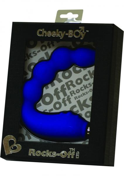 Cheeky Boy Silicone Vibrator Waterproof Luscious Blue