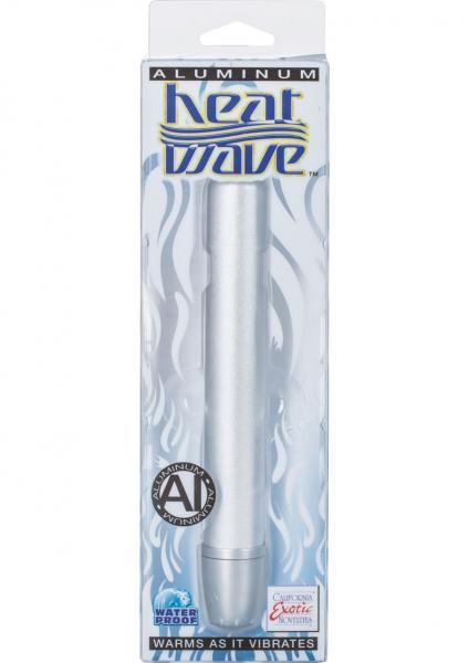 Aluminum Heat Wave Slender Teaser Warming Vibe Waterproof Silver 6.25 Inch