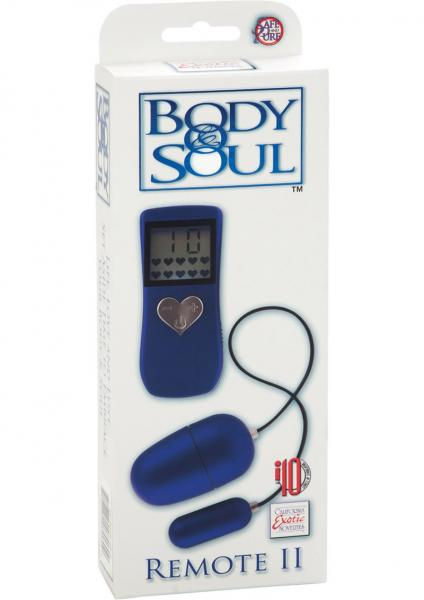 Body And Soul Remote II Egg Waterproof - Blue