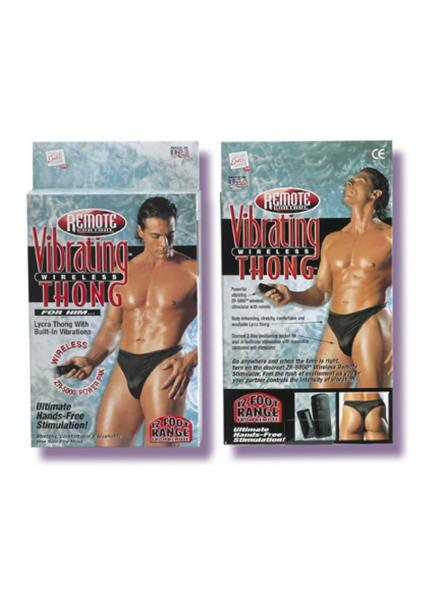 Remote Control Vibrating Wireless Thong For Him Black