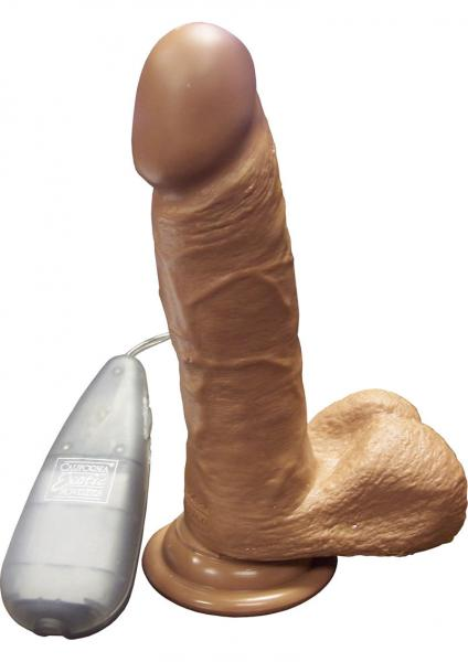 Vibrating Emperor Dildo 6 Inch Brown