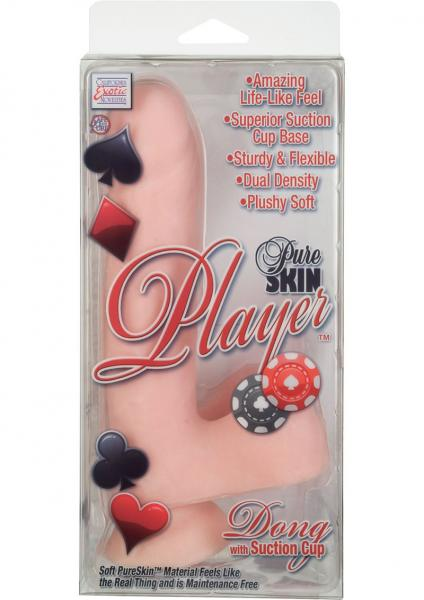 Pure Skin Player Dong With Suction Cup 6.25 Inch Ivory