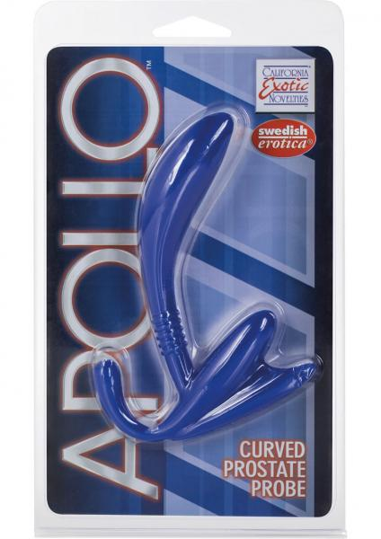 Apollo Curved Prostate Probe Blue 4.5 Inch