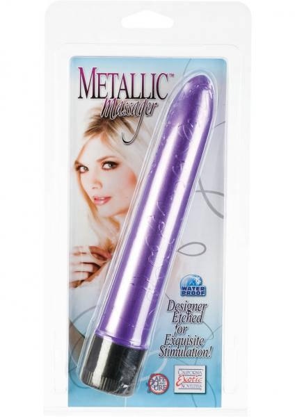 METALLIC MASSAGER 6.5 INCH PURPLE