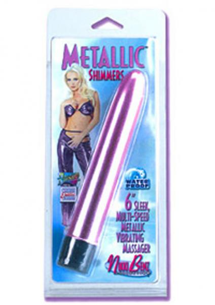 METALLIC SHIMMER MULTI SPEED MASSAGER 6 INCH SILVER