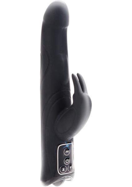Black Label Jack Rabbit Anniversary Edition Silicone Vibrator Waterproof - Black
