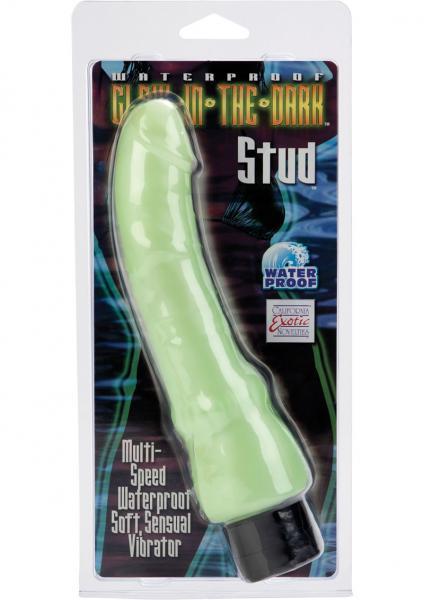 Glow-In-The-Dark Stud Vibrator - Mint