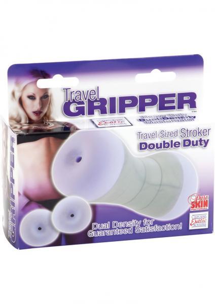 Travel Gripper Double Duty Anal Masturbator Purple