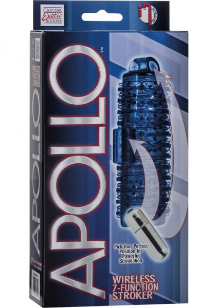 Apollo Wireless 7 Function Stroker Waterproof Blue