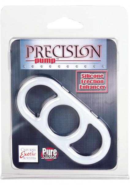 Precision Pump Erection Enhancer Silicone Cock Ring Clear