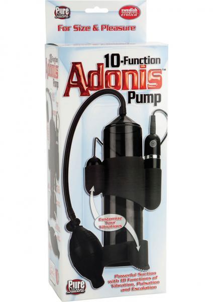 10 Function Adonis Penis Pump Silicone Black