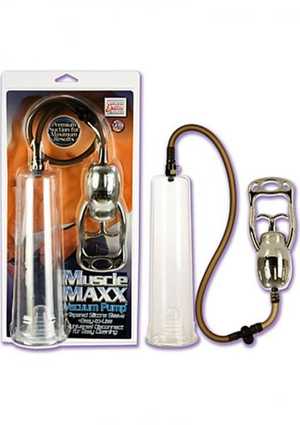 MUSCLE MAXX VACUUM PENIS PUMP 9 INCH CLEAR