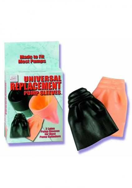 UNIVERSAL REPLACEMENT PUMP SLEEVES 2 LATEX PUMP SLEEVES FITS MOST PUMP CYLINDERS FLESH AND BLACK