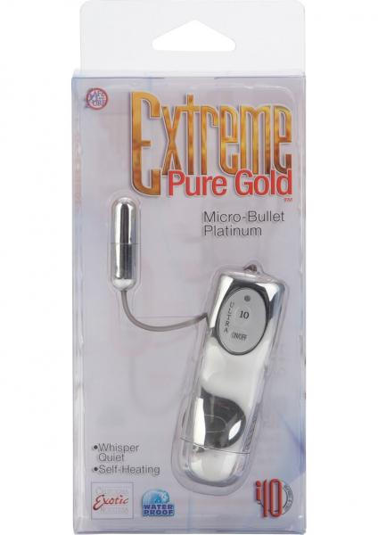 Extreme Pure Gold Micro Bullet Waterproof 1.5 Inch Platinum