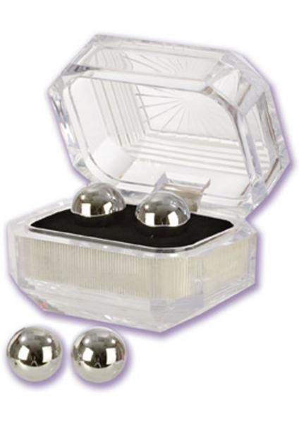 Silver Balls In Presentation Box Multiuse Weighted Pleasure Balls
