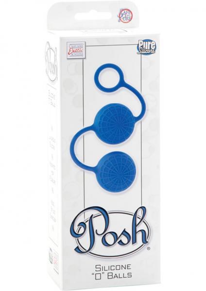 Posh Silicone O Balls Blue
