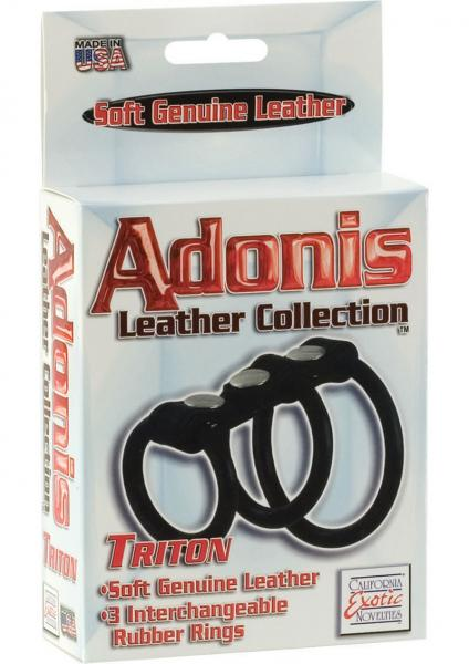 Triton Leather Harness With 3 Interchangeable Rubber Rings