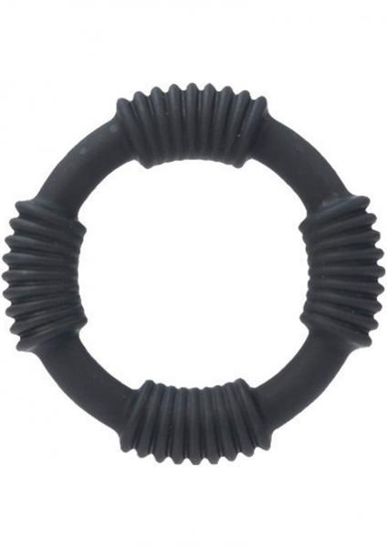 Adonis Silicone Cock Rings Hercules Black Cock Ring