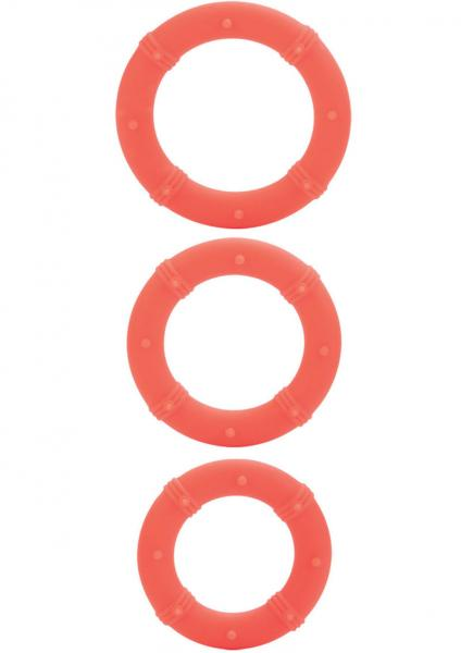 Posh Silicone Love Cock Rings Orange 3 Each