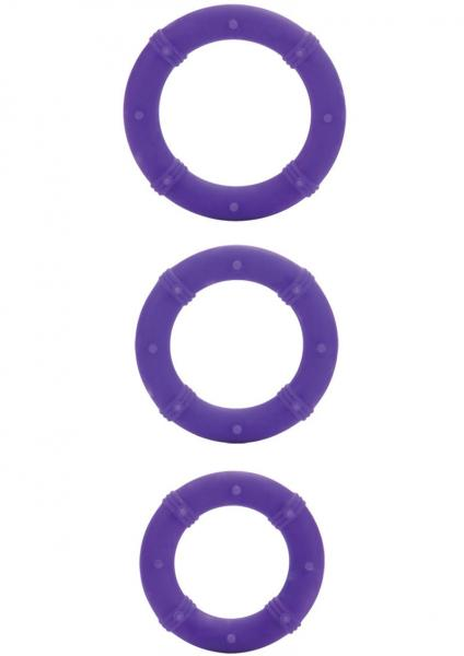 Posh Silicone Love Cock Rings Purple 3 Each