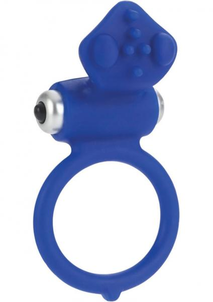 Body And Soul Affection Silicone Cockring Waterproof Blue 1.5 Inch Diameter