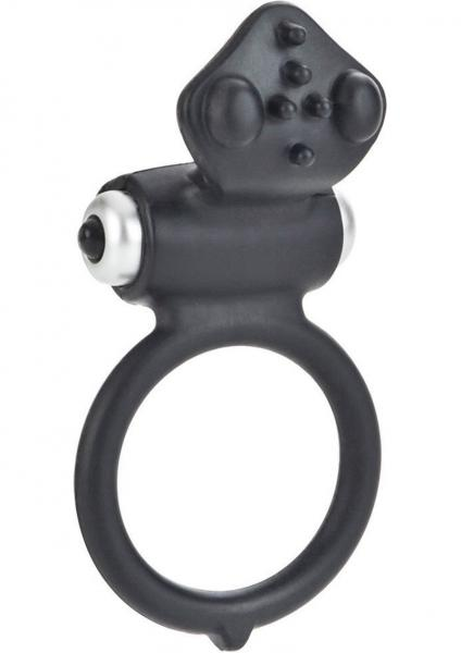 Body And Soul Affection Silicone Cockring Waterproof Black 1.5 Inch Diameter