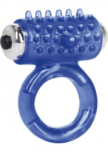 Apollo 7 Fuction Premium Enhancer Vibrating Cockring Blue 1.5 Inch Diameter