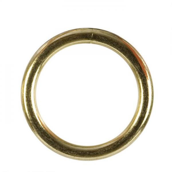 Gold Cock Ring Large 2.5 Inches