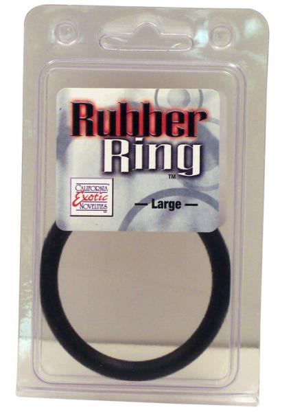Rubber Cock Ring Large 2.5 Inch Diameter Black