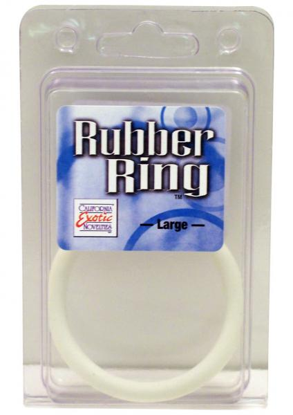 Rubber Cock Ring Large 2.5 Inch Diameter White