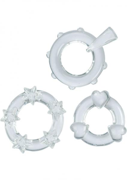 Magic C Rings Set Of 3 Clear