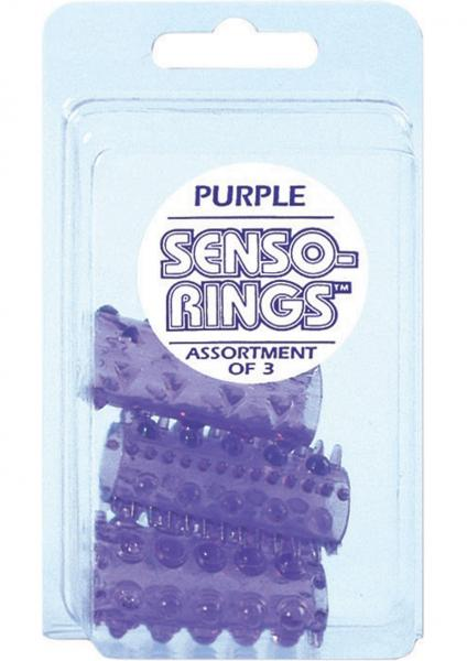 Sensi Rings Purple 3 Pack For Use in Penis Or Vibrator