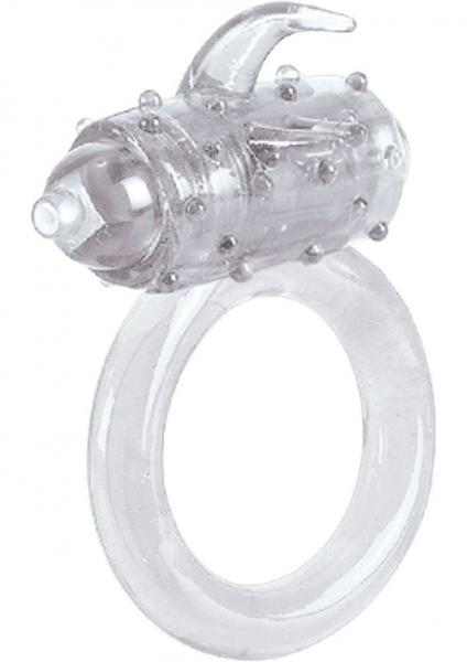 One Touch Flicker Clear Vibrating Ring