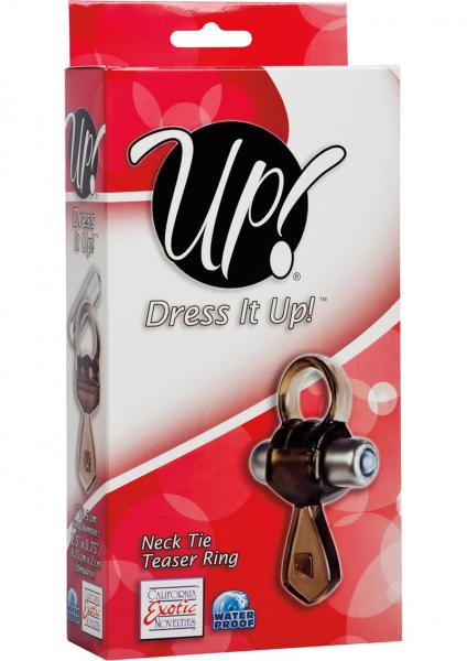 Up Dress It Up Neck Tie Teaser Ring Cockring Waterproof Smoke