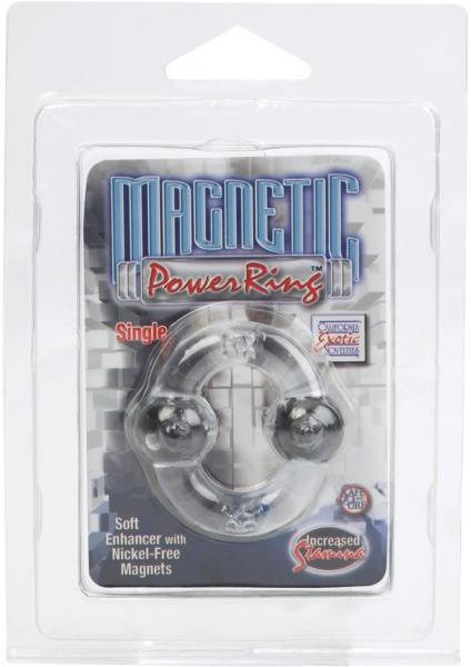 Magnetic Power Ring Soft Enhancer With Nickel Free Magnets Clear