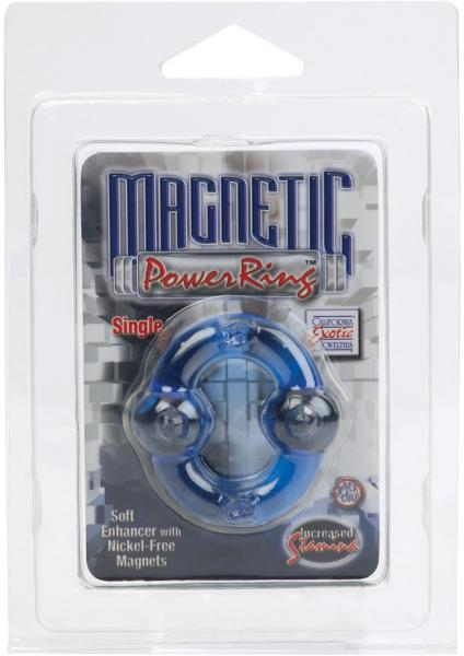 Magnetic Power Ring Soft Enhancer With Nickel Free Magnets Blue
