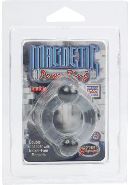 Magnetic Power Ring Double Double Enhancer With Nickel Free Magnets Clear