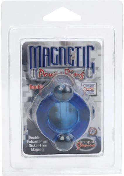 Magnetic Power Ring Double Double Enhancer With Nickel Free Magnets Blue