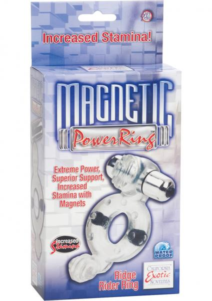 Magnetic Power Ring Ridge Rider Ring With Magents And Removable 3 Speed Bullet Waterproof Blue