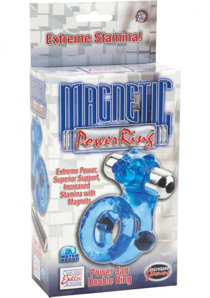 Magnetic Power Ring Power Jag Double Ring Cock Ring Waterproof Blue