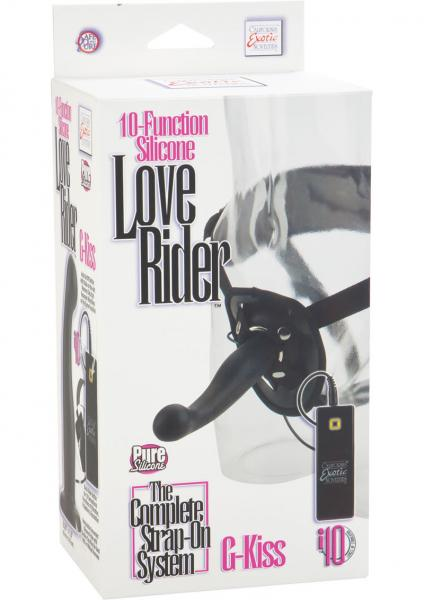 10 Function Silicone Love Rider G Kiss Harness Black
