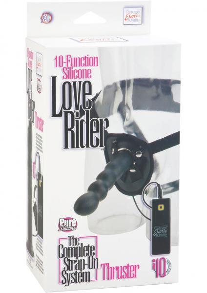 10 Function Silicone Love Rider Thruster Harness Black