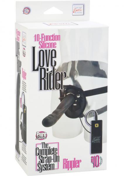 10 Function Silicone Love Rider Rippler Harness Black