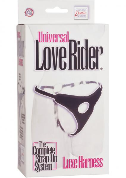 Universal Love Rider Luxe Harness Adjustable Black