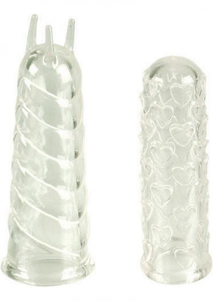 Finger Teasers Silicone Finger Massagers Clear